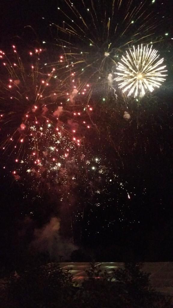 Finsh line fireworks